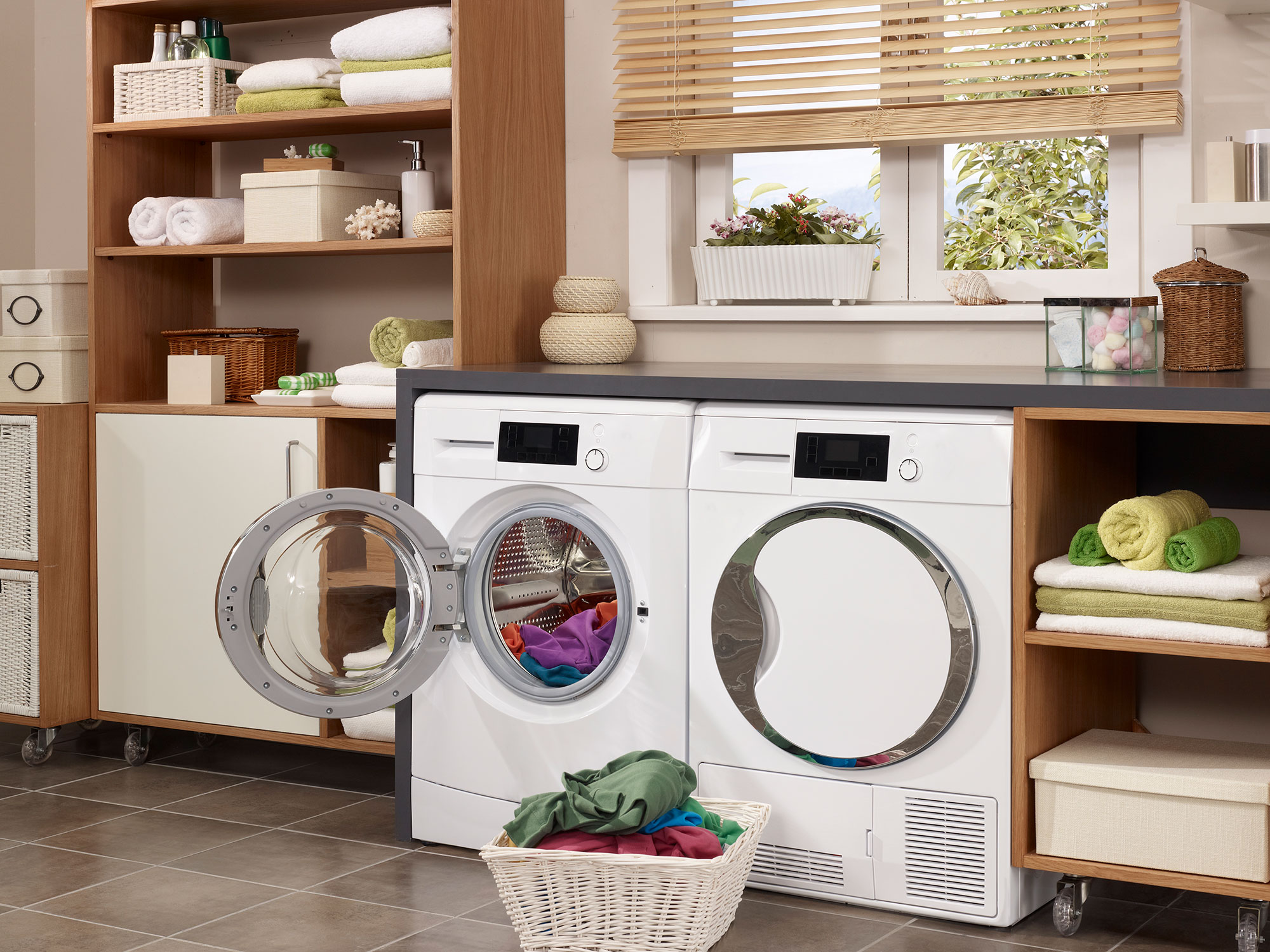 side by side washer dryer set
