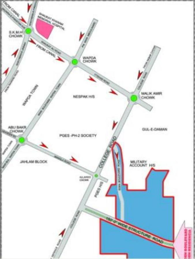 Eden Boulevard at Ameer Villas Lahore (Location Plan)