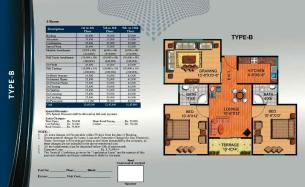 Al Wasay Towers Karachi (Layout Plan Flat Type-B & Payment Plan)