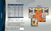 Al Wasay Towers Karachi (Layout Plan Flat Type-B1 & Payment Plan)
