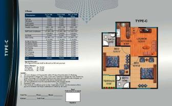 Al Wasay Towers Karachi (Layout Plan Flat Type-C & Payment Plan)