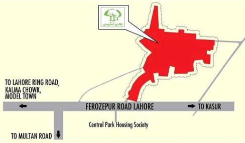 Bahria Nasheman Lahore - Location Plan