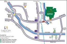 Lake City Lahore - Location plan - Map