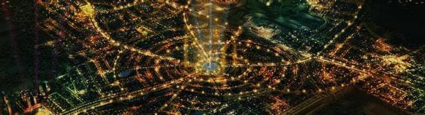 Lake City Lahore - Master plan - night view