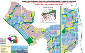 Multi Gardens Housing Scheme Sector B-17 Islamabad (Layout Plan)