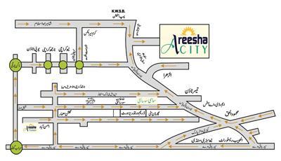 Areesha City Karachi - Location Map