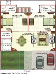 Areesha City Karachi - a house drawing layout plan