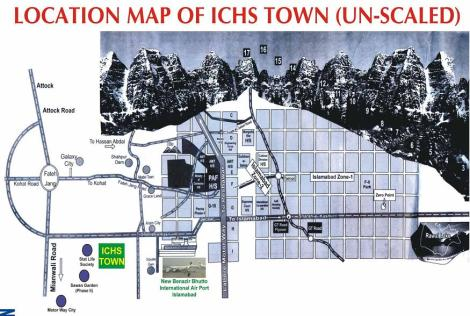 ICHS Town - Islamabad Co-operative Housing Society - Location Map