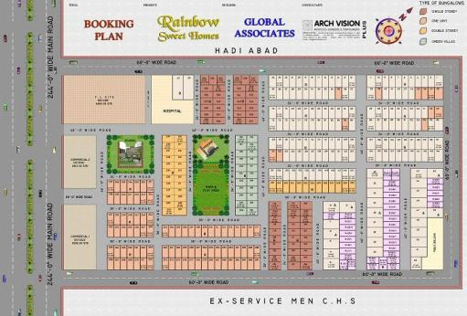 Rainbow Sweet Homes - Detail Layour or Drawing Map - Booking Plan 2