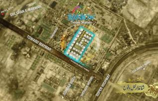 Rainbow Sweet Homes Karachi - Location Map or Plan