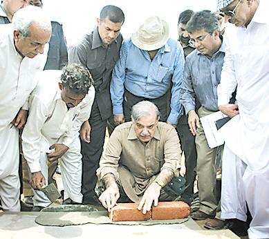 Shahbaz Sharif lay foundation stone of Mosque in Ashiana housing Lahore