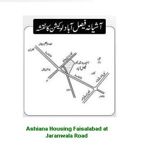 Location Map Faisalabad Ashiana Housing Scheme