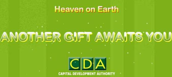 CDA advertisement banner for margalla retreat housing