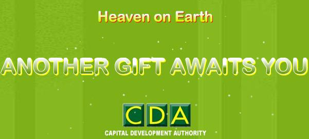 CDA advertisement banner for margalla retreat housing