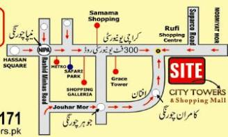 City Towers and Shopping Mall Karachi - Location Plan