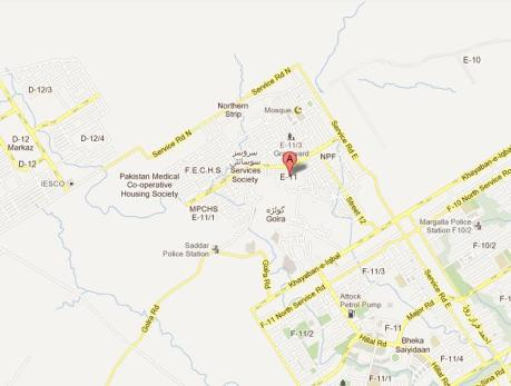 Map Sector E-11 (Margalla Retreat Housing) Islamabad