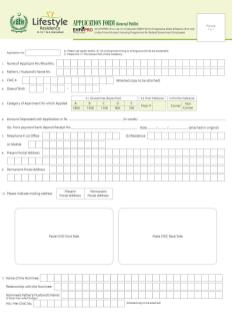 Lifestyle residency apartments Islamabad - Application Form (General Public) -1