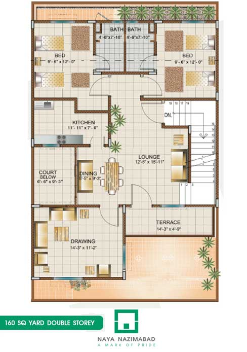 Naya nazimabad housing city karachi bunglows floor plans for 120 square yards floor plan