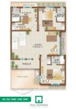 Bungalow 160 sq yards One Unit First Floor