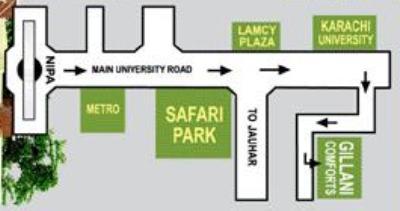 Gillani Comforts Karachi - Location Plan or Map