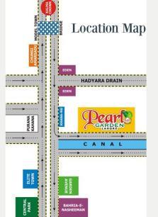 Pearl Garden Lahore - Location Map