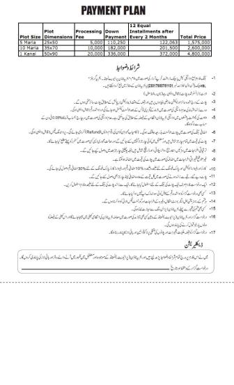 Bahria Greens Islamabad - Payment Plan