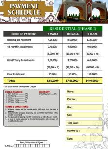 elite town lahore payment price plan residential 1