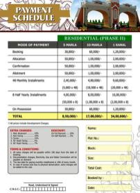elite town lahore payment price plan residential 2
