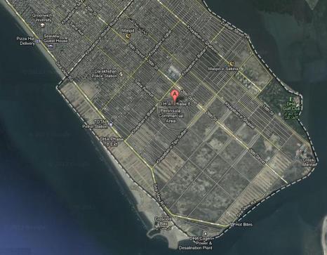 DHA Phase 8 Karachi Satellite Map