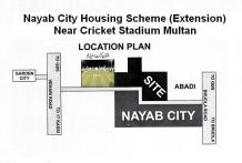 Nayab City Extension Multan - Location Map