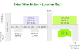 Sahar Villas Multan - Location Plan or Map