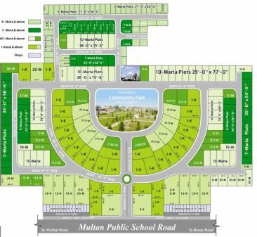 Sahar Villas Multan - Master Plan or Layout