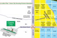 Green City Housing Scheme Islamabad - Location Map or Plan