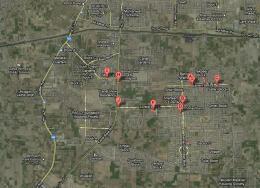 Bahria Town Lahore Satellite Map