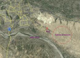 Gulistan e Sarmast Housing Scheme Hyderabad Location Satellite Map