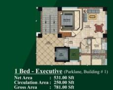 1 bed Room layout plan - Jalal complex Abbottabad
