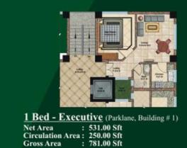 1 bed Room layout plan - Jalal complex Abbottabad