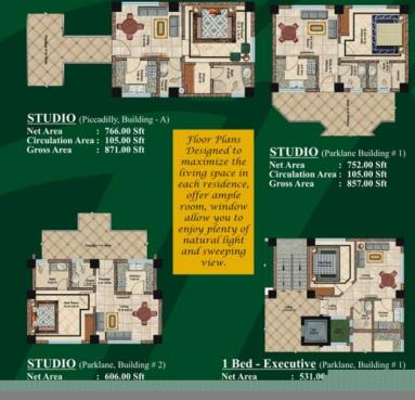 Studios layout plan - Jalal complex Abbottabad