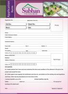 Gulshan-e-Subhan Housing Project Faisalabad - Application Form