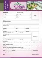 Gulshan-e-Subhan Housing Project Faisalabad - Application Form