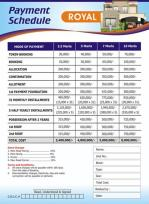 Metro Homes Multan - Royal Category Payment Plan