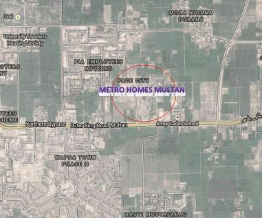 Metro Homes Multan - Satellite Location Map