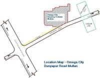 Omega City Multan Location map