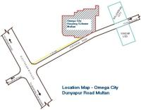 Omega City Multan Location map