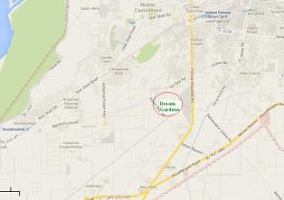 Dream Gardens Multan Location Map