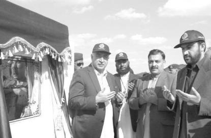 Bahria Town Awaran - Balochistan CM Abdul Malik, with Bahria Town Project Director Tahir Butt laying foundation stone