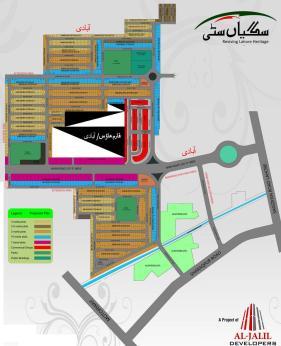 Saggian City Lahore - Master Plan Detail Layout
