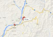 Char Bagh Swat Location Map
