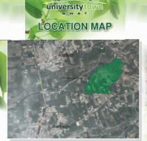 University Town Swat Location Map
