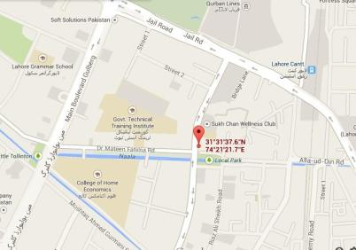 T27 Apartments Lahore - Location Map